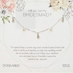 dogeared // bridesmaid silver pearl necklace